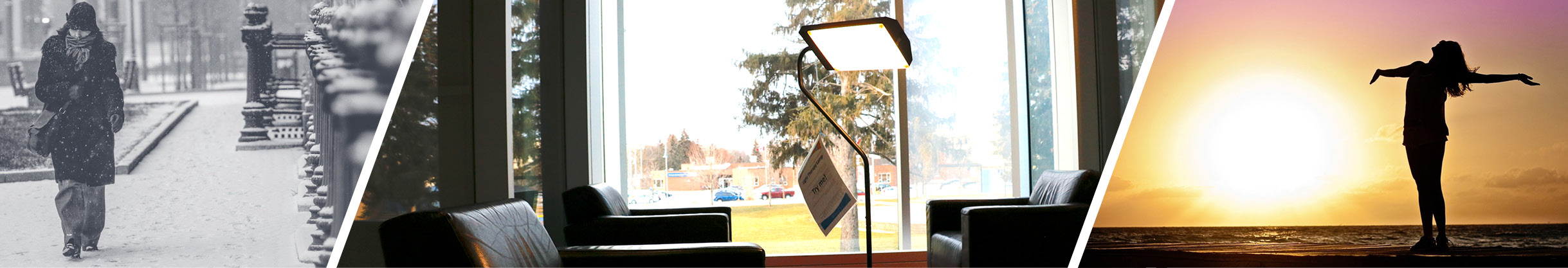 banner image showing light therapy lamps available at Burlington Public Library